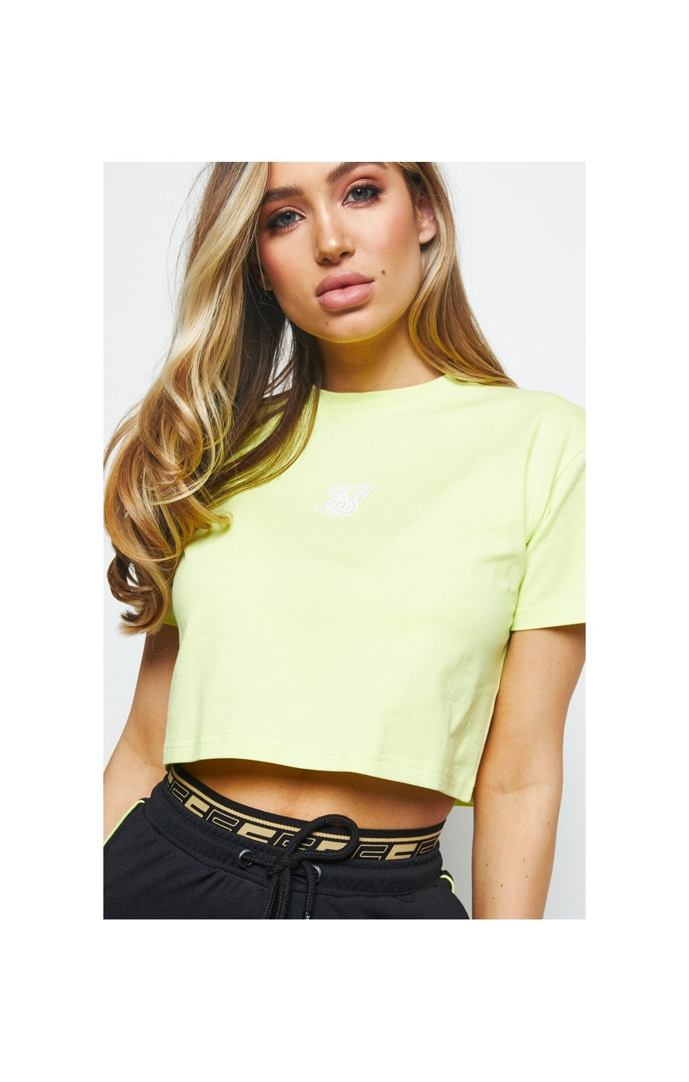 SikSilk Retro Box Fit Tee – Lime