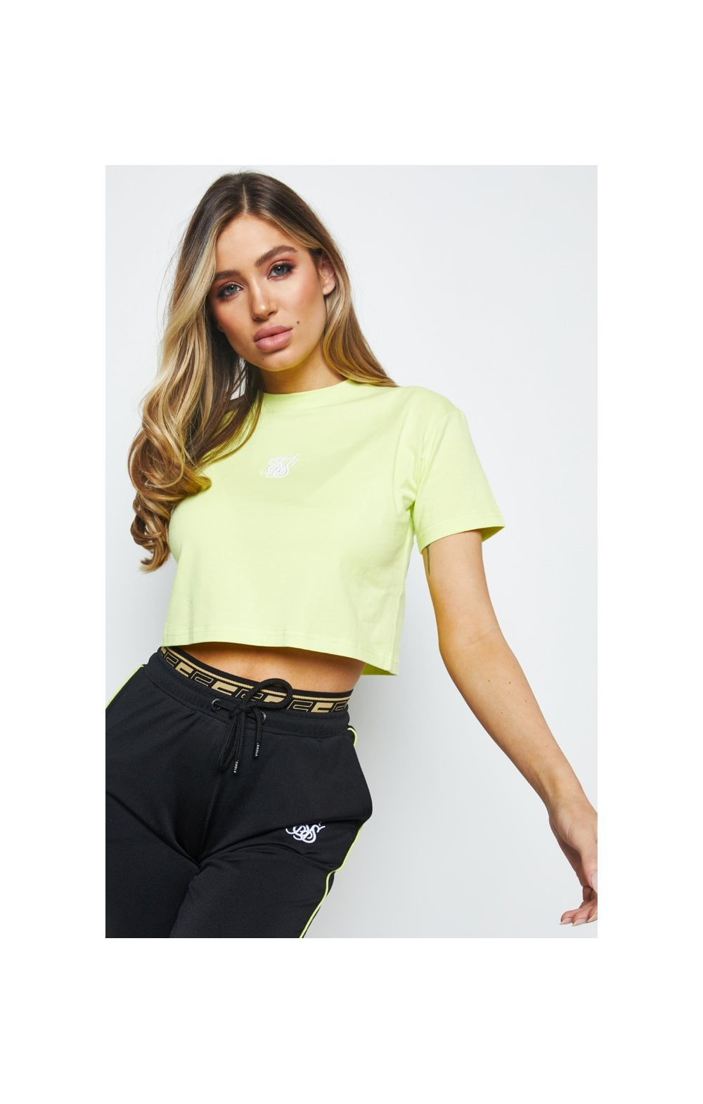 SikSilk Retro Box Fit Tee – Lime (1)