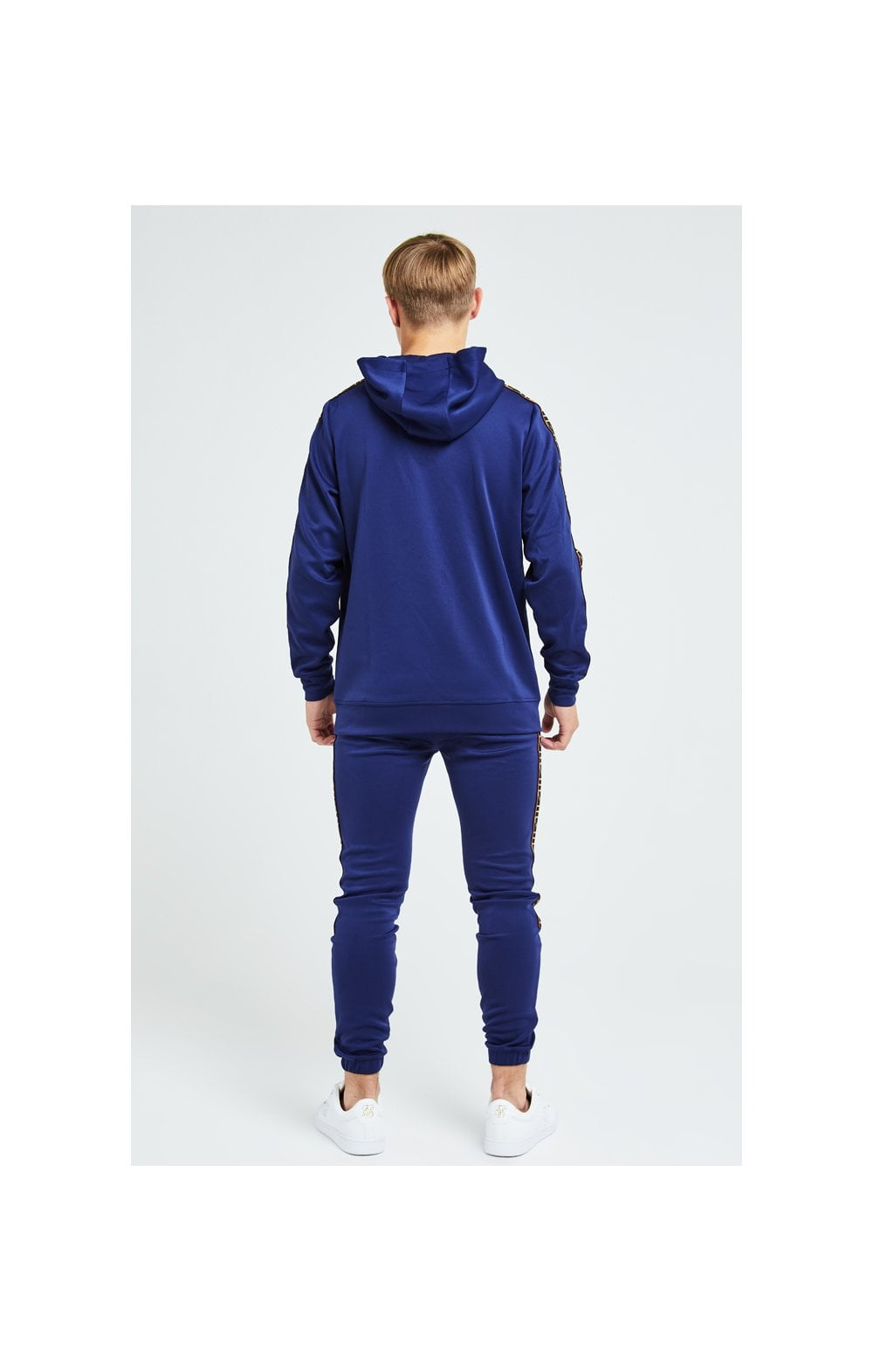 Load image into Gallery viewer, Illusive London Patriot Overhead Hoodie - Blue & Orange (5)