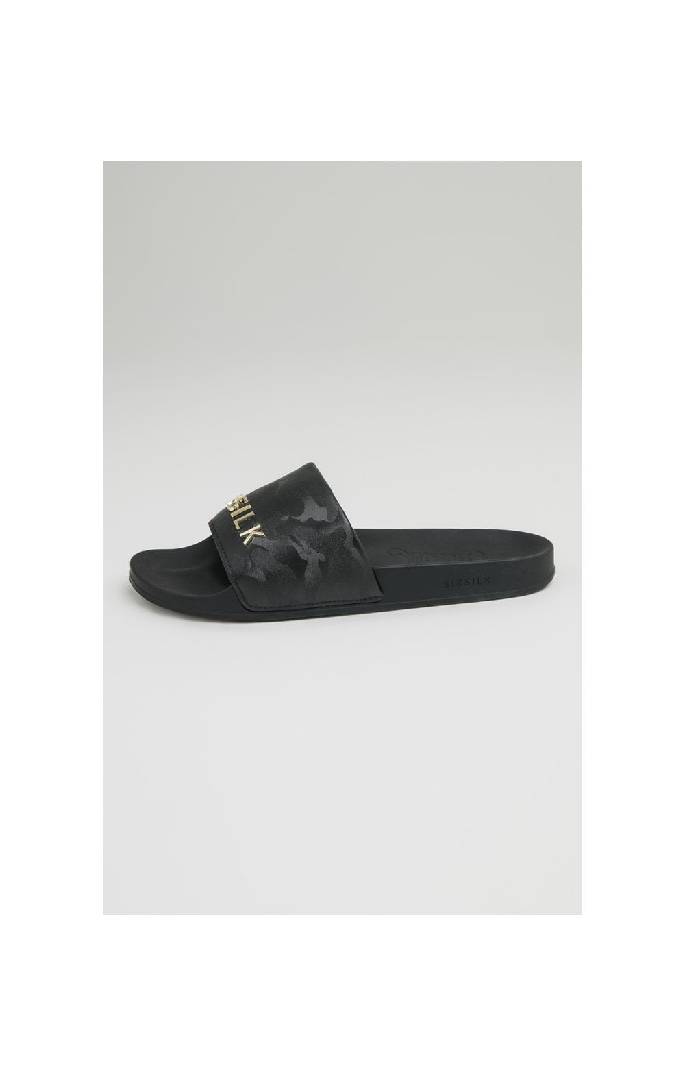 SikSilk Alpha Camo Slides - Black