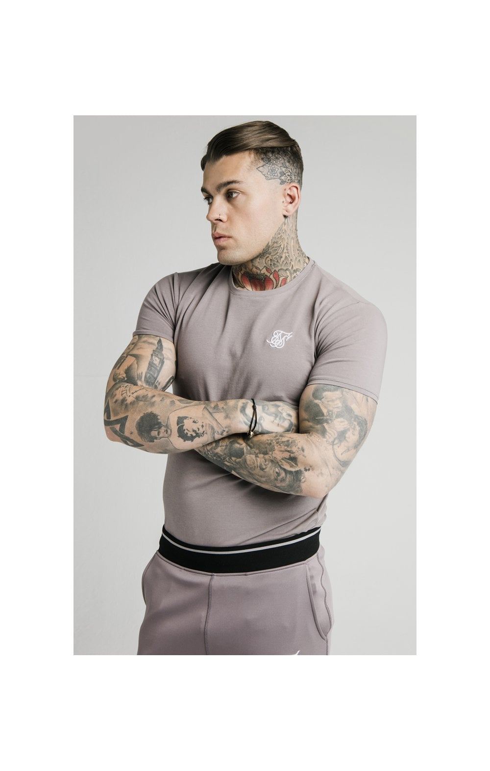 SikSilk S/S Gym Tee – Grey