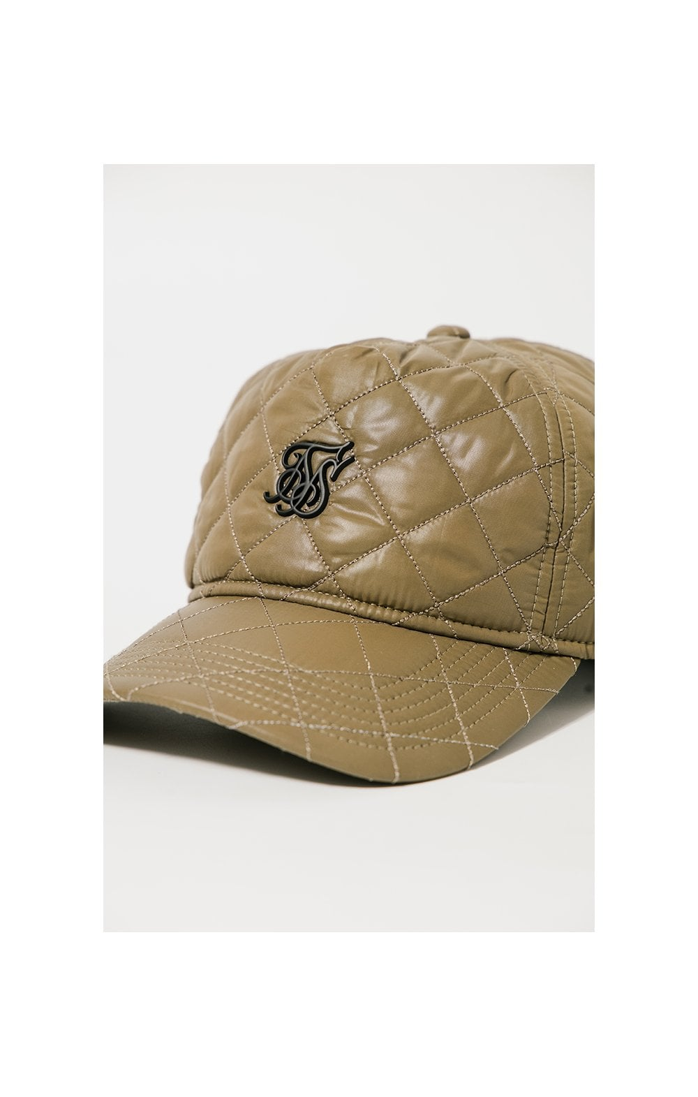 SikSilk Quilted Nylon Trucker - Olive
