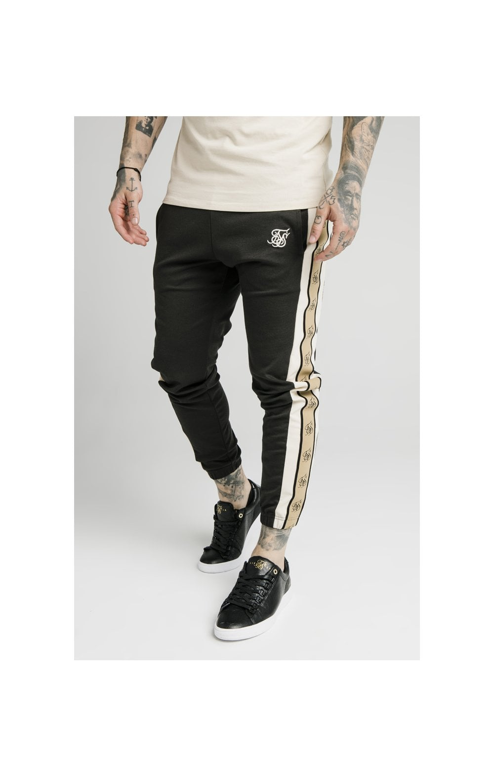 Load image into Gallery viewer, SikSilk Premium Tape Track Pant - Anthracite