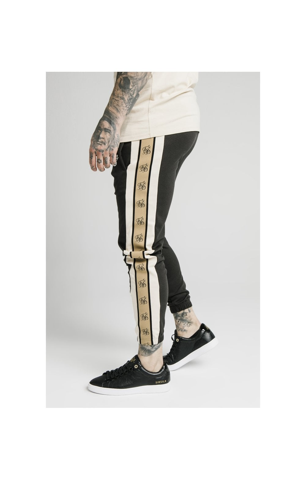 Load image into Gallery viewer, SikSilk Premium Tape Track Pant - Anthracite (1)