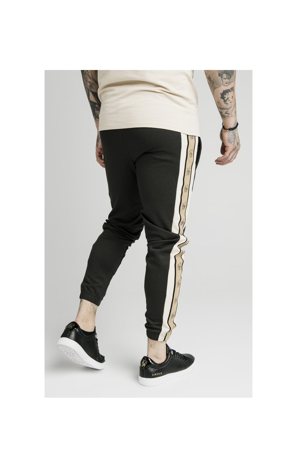 Load image into Gallery viewer, SikSilk Premium Tape Track Pant - Anthracite (4)