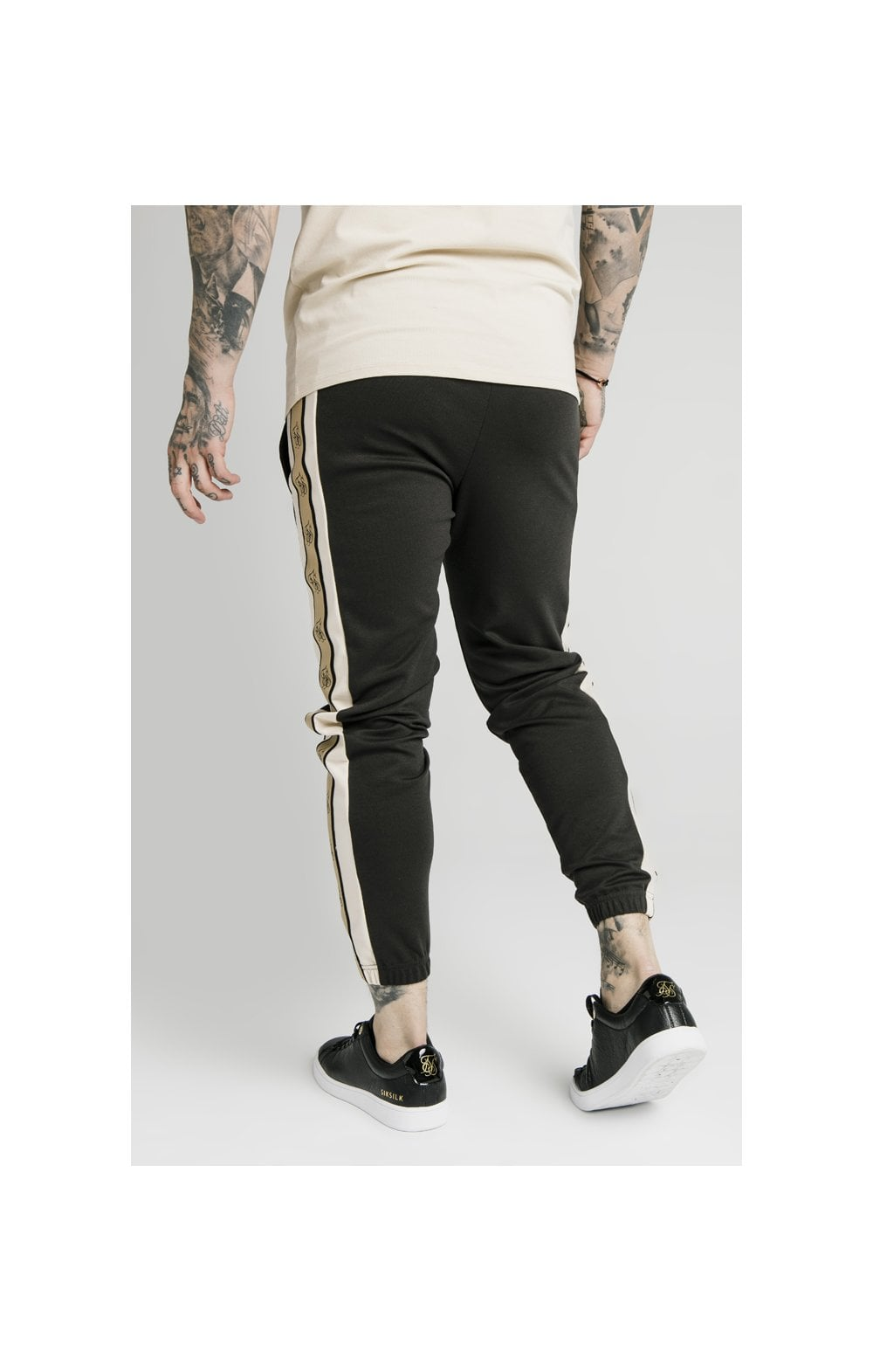 Load image into Gallery viewer, SikSilk Premium Tape Track Pant - Anthracite (5)