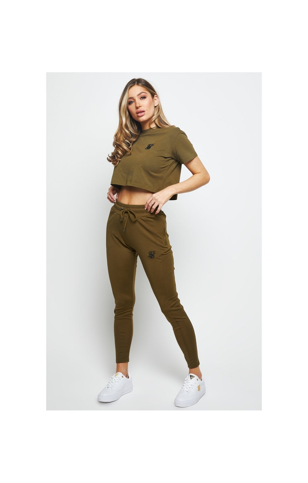 SikSilk Retro Fit Box Tee - Khaki (2)