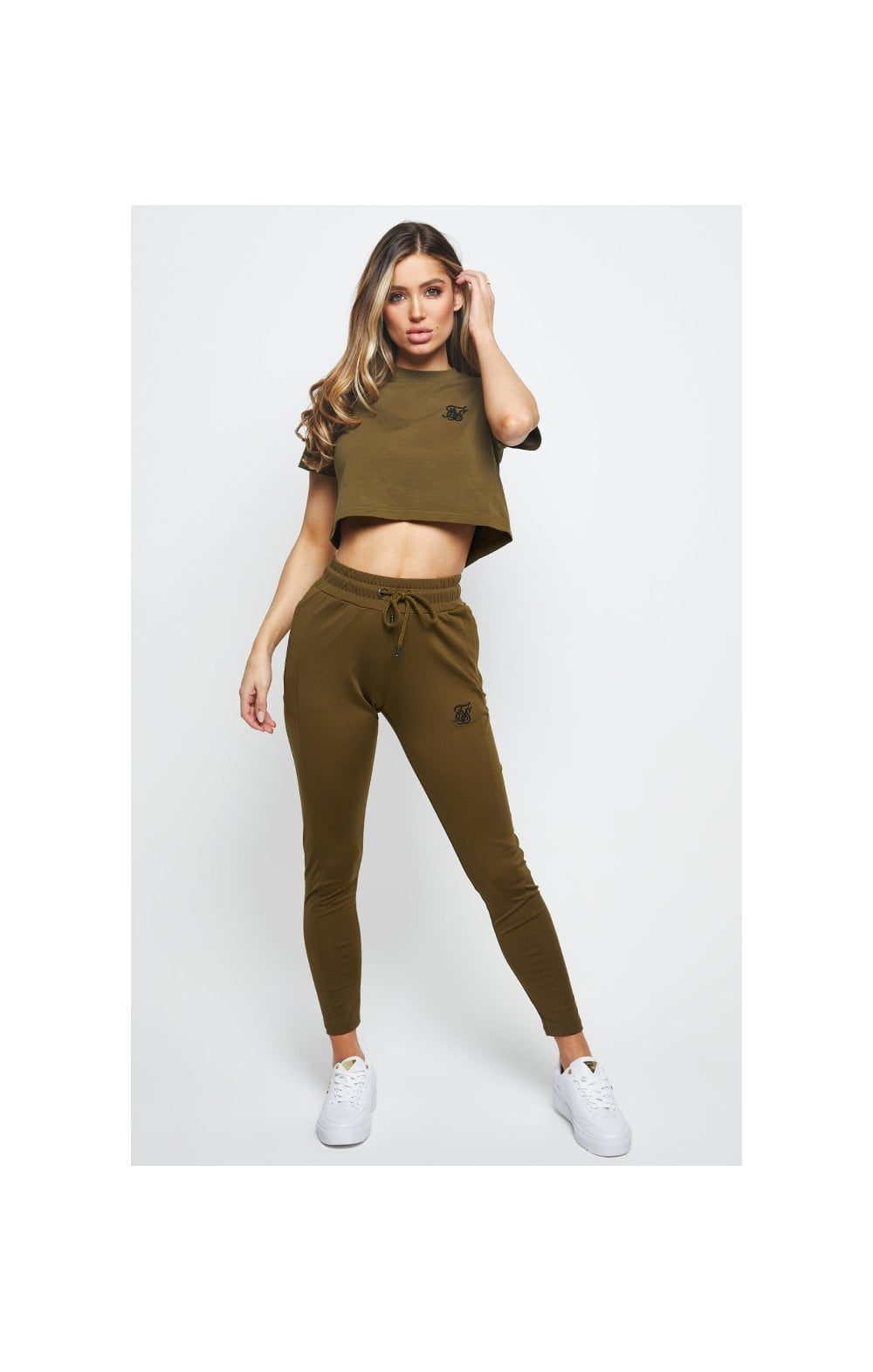 SikSilk Retro Fit Box Tee - Khaki (3)