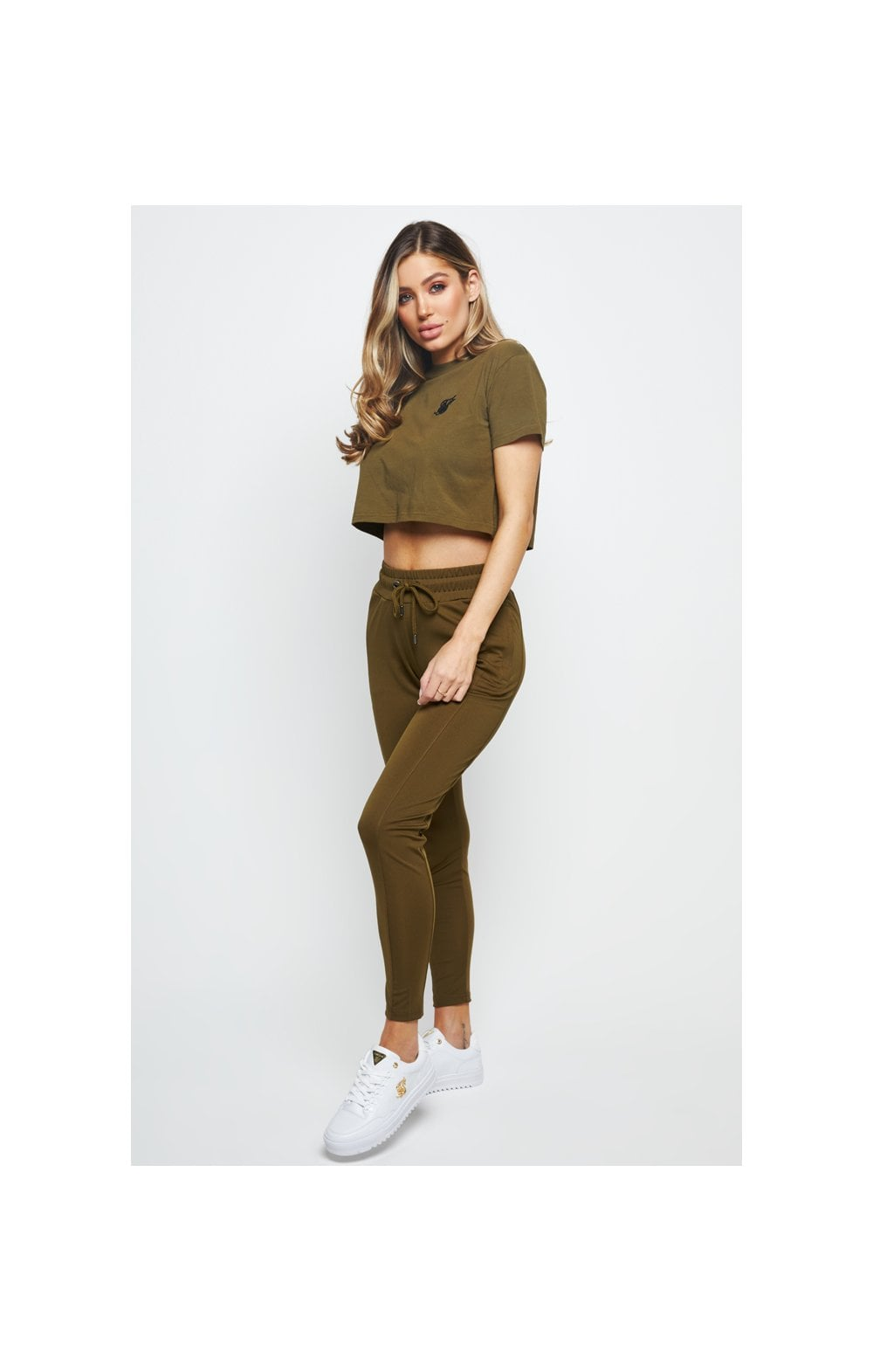 SikSilk Retro Fit Box Tee - Khaki (7)