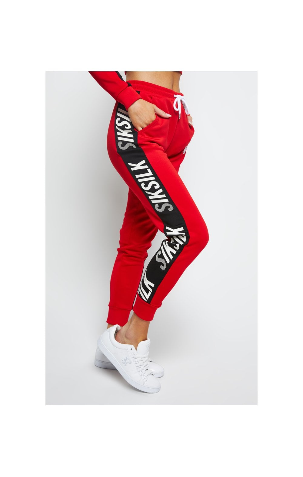 SikSilk Chaser Track Pant - Red