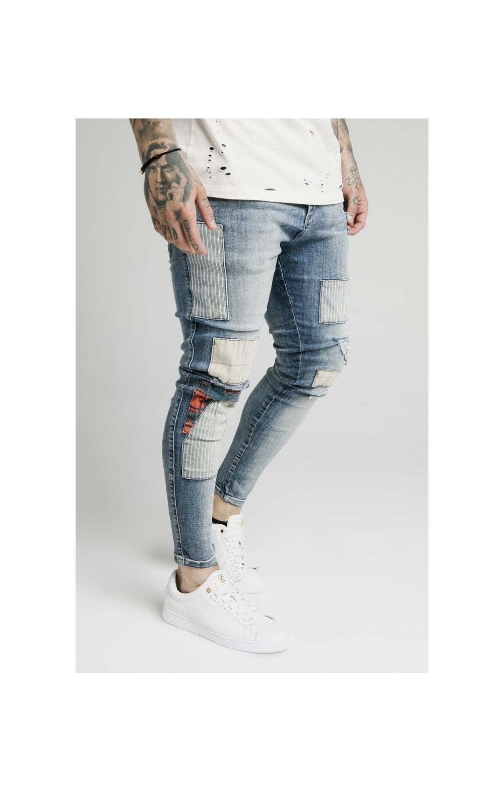 SikSilk Low Rise Fusion Denims – Midstone