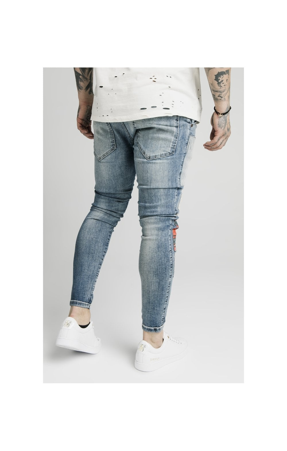 SikSilk Low Rise Fusion Denims – Midstone (1)