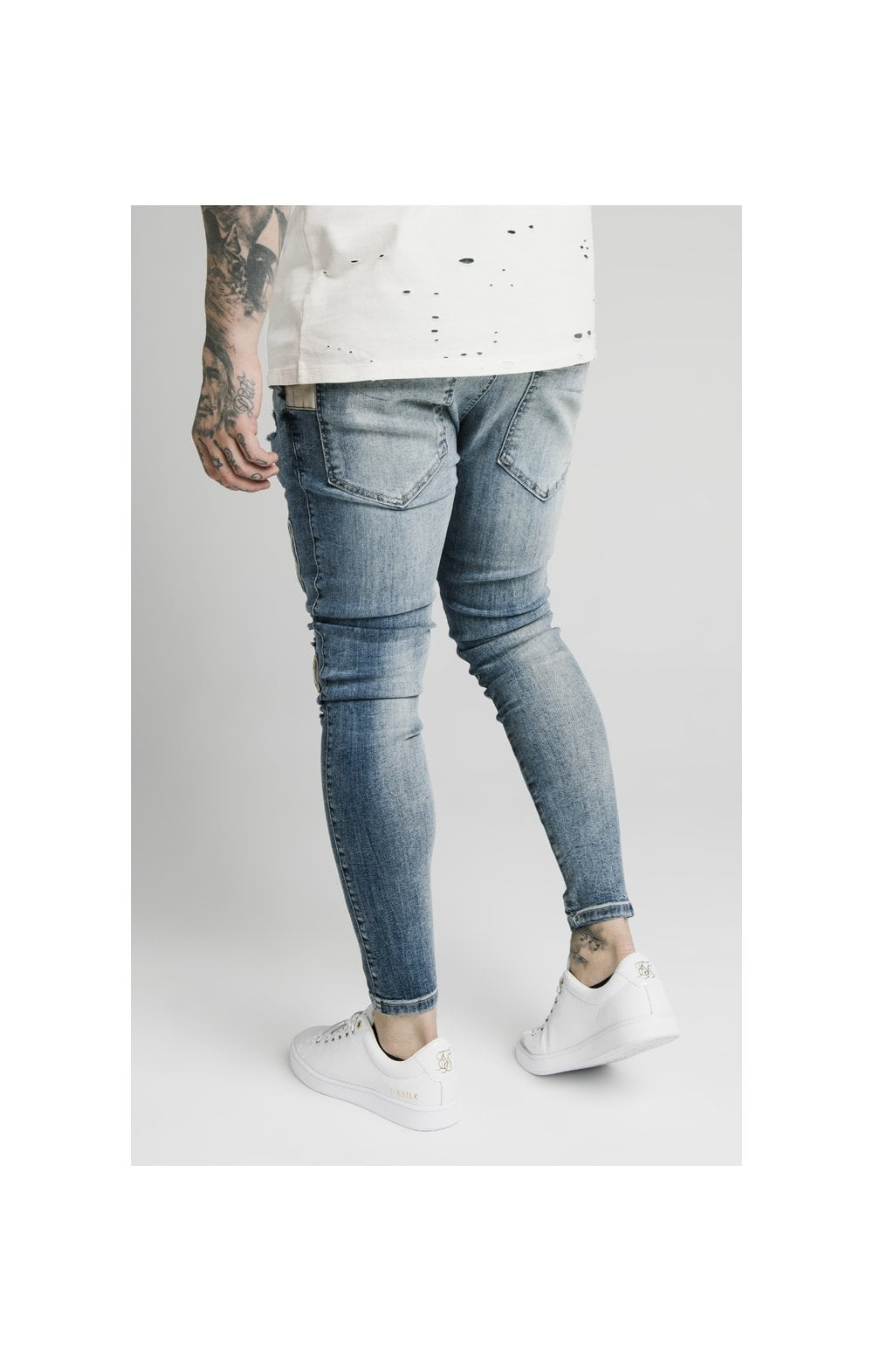 SikSilk Low Rise Fusion Denims – Midstone (2)
