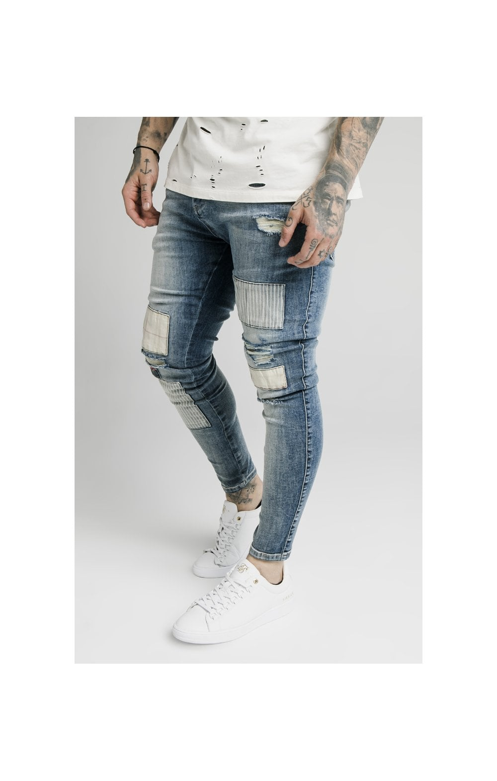 SikSilk Low Rise Fusion Denims – Midstone (3)