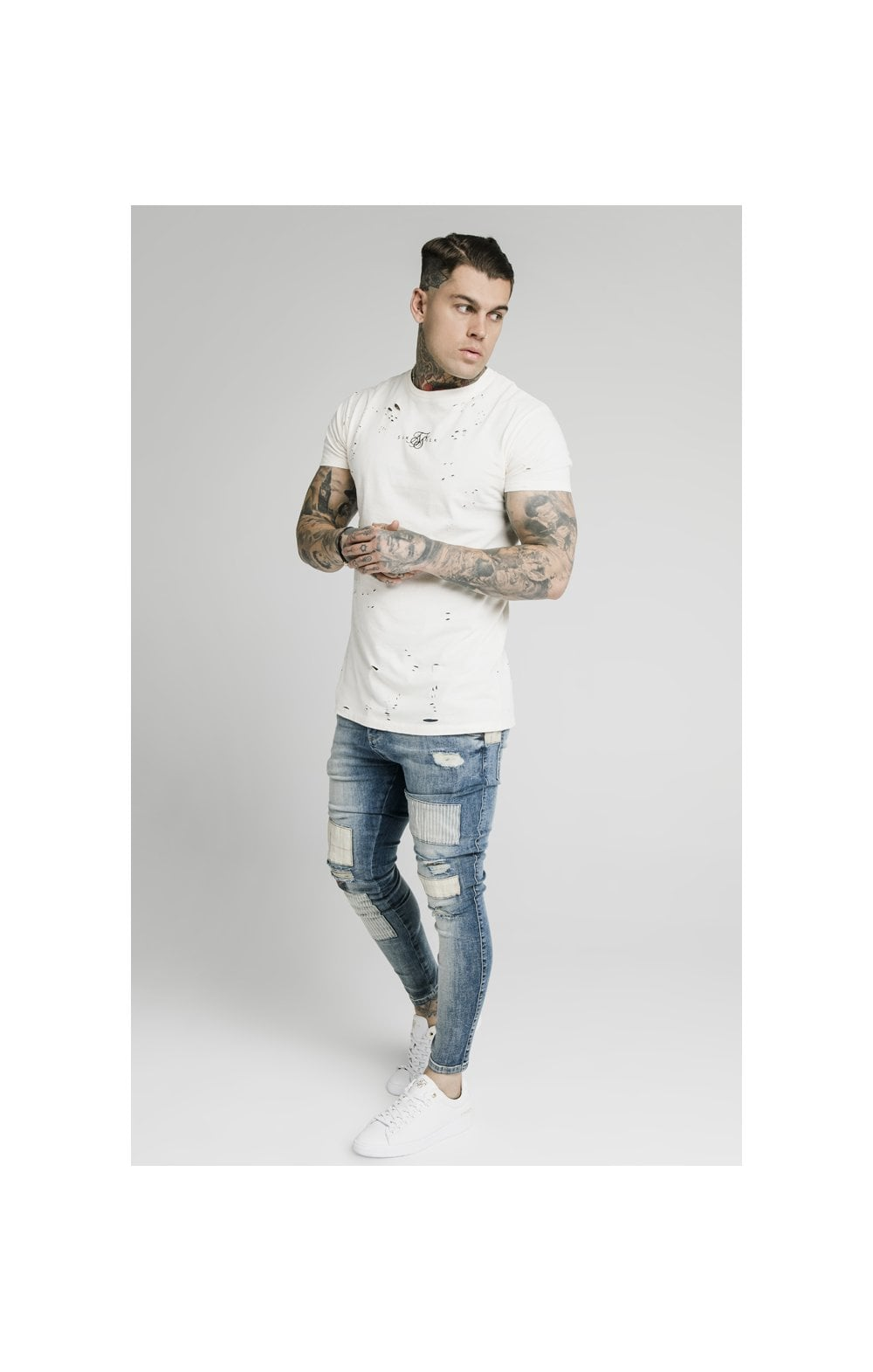 SikSilk Low Rise Fusion Denims – Midstone (5)