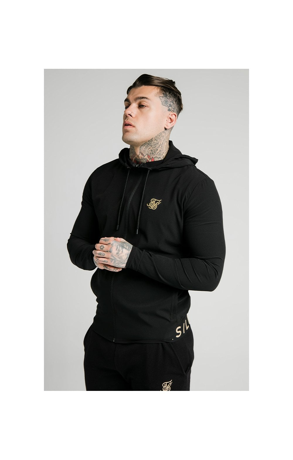 SikSilk RipStop Agility Zip Through Hoodie – Black