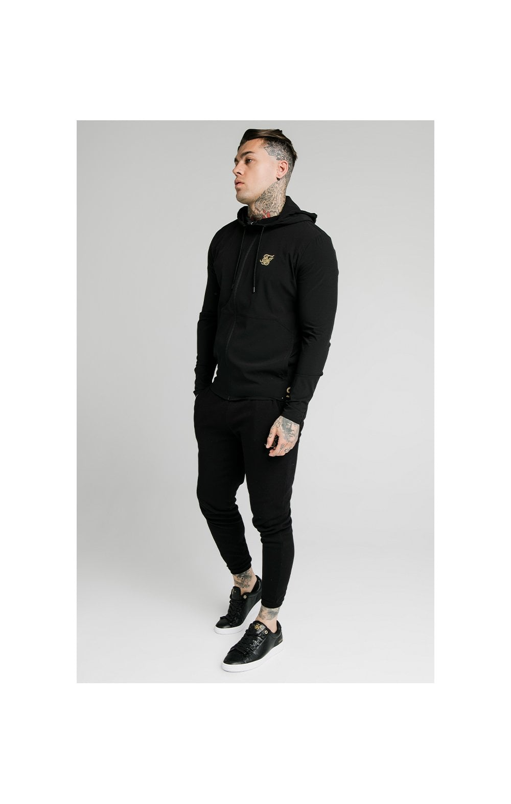 SikSilk RipStop Agility Zip Through Hoodie – Black (1)