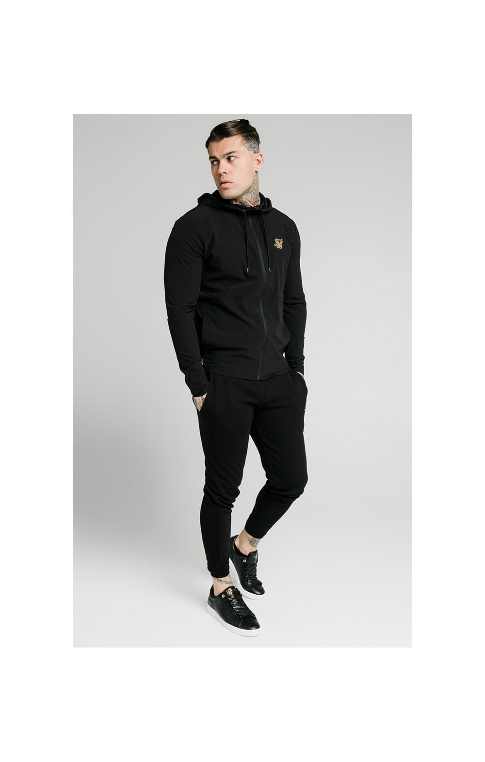 SikSilk RipStop Agility Zip Through Hoodie – Black (2)