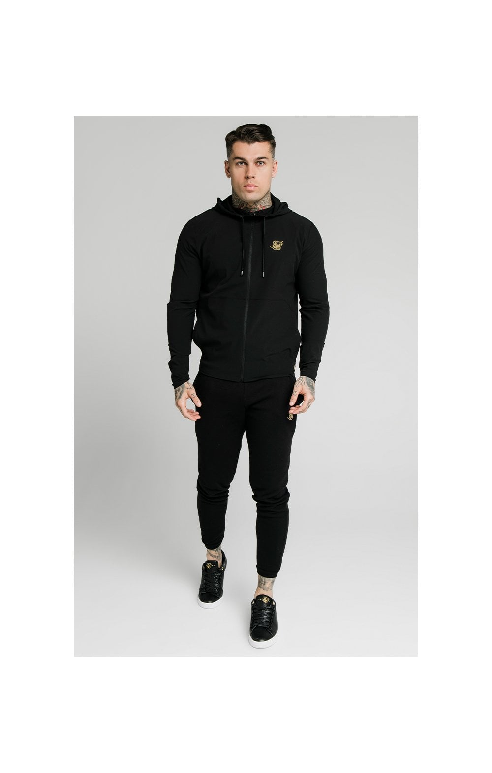 SikSilk RipStop Agility Zip Through Hoodie – Black (3)