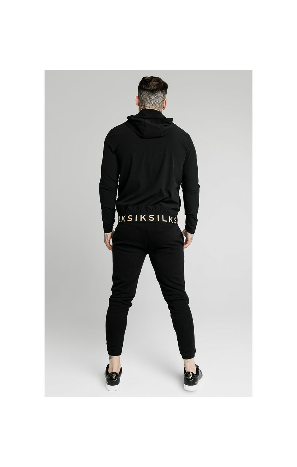 SikSilk RipStop Agility Zip Through Hoodie – Black (4)