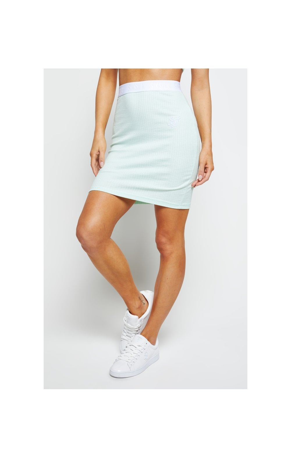 SikSilk Rib Tube Skirt - Mint