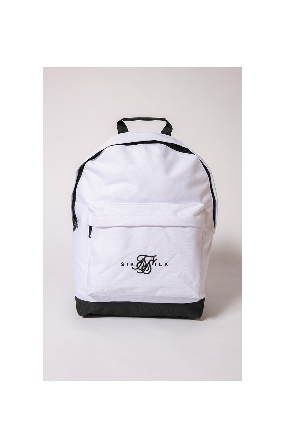 SikSilk Dual Logo Backpack – White & Black