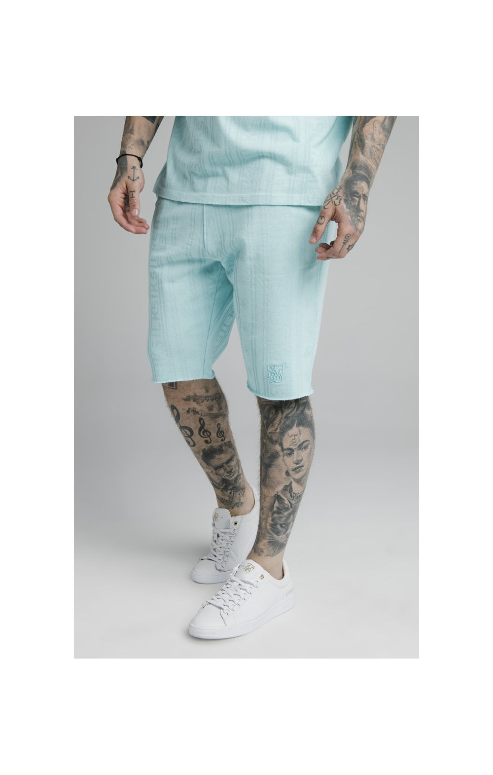 SikSilk Pastel Gym Shorts - Blue