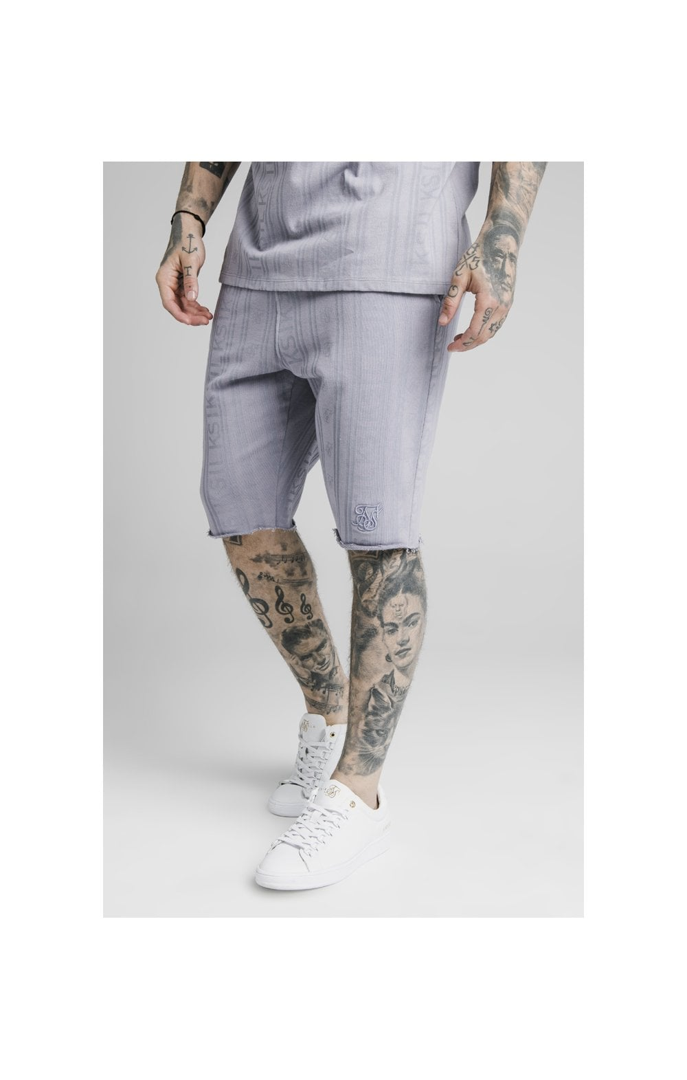 SikSilk Pastel Gym Shorts - Grey