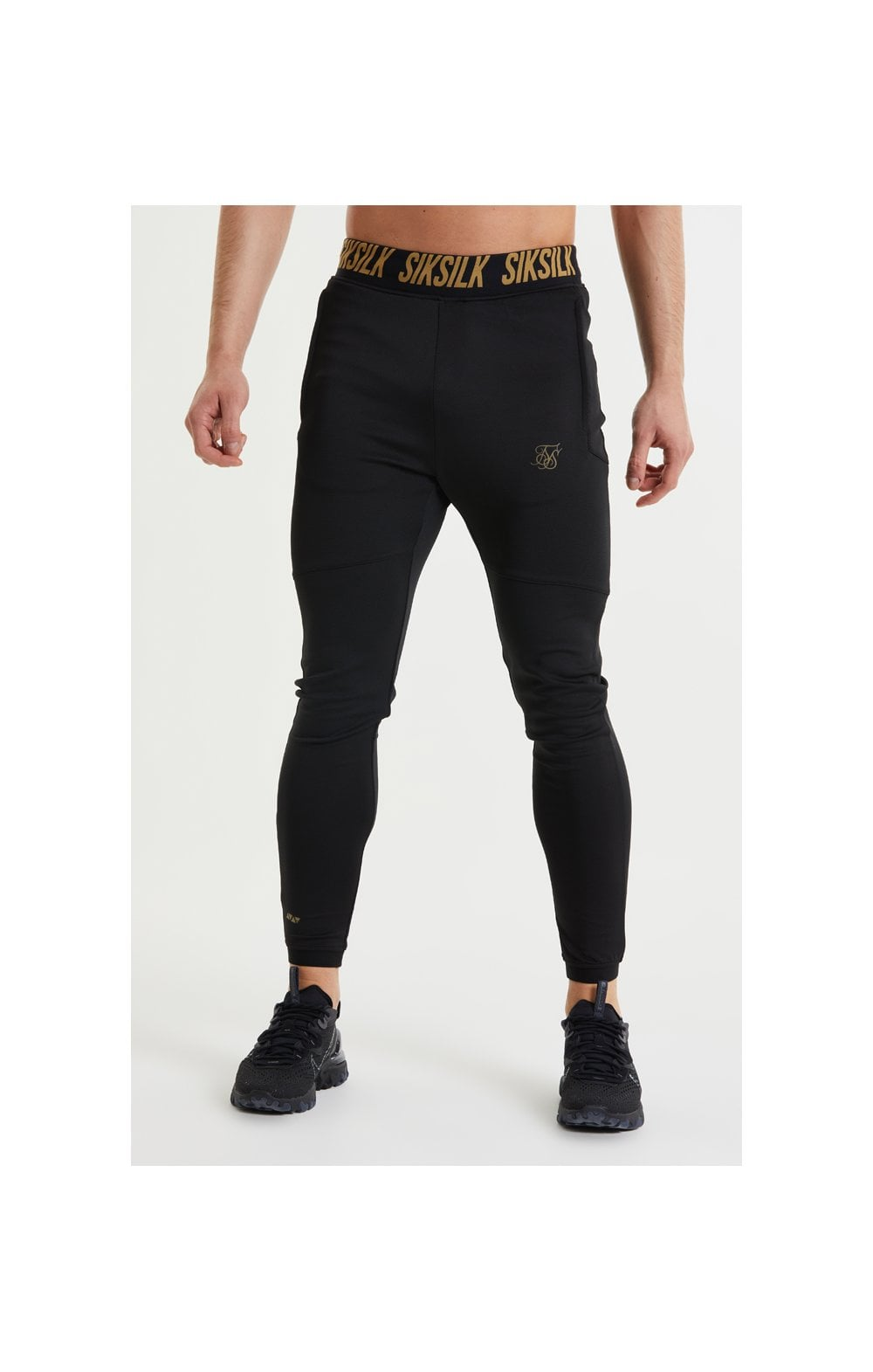 SikSilk Performance Agility Pants – Black & Gold