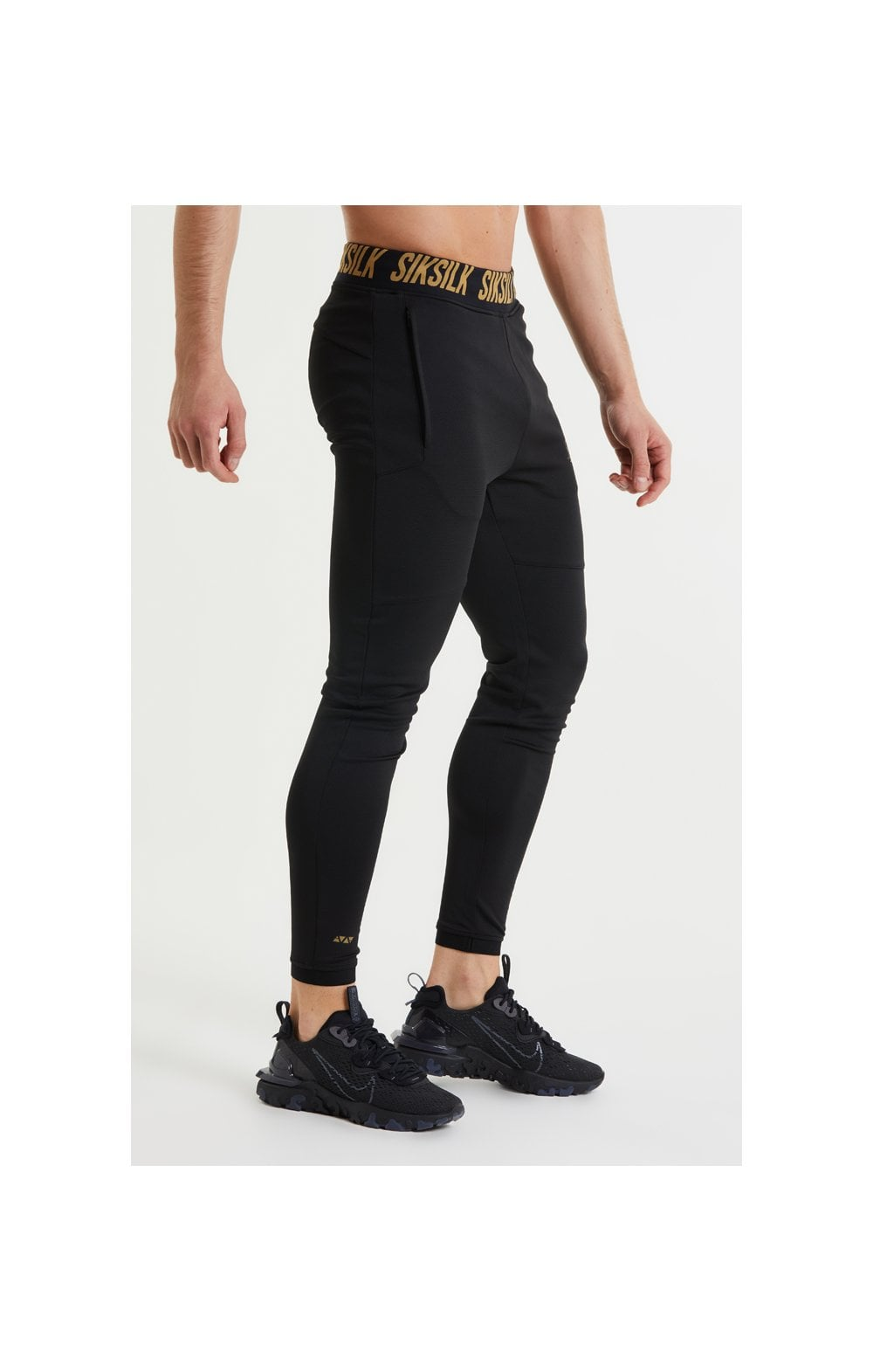 SikSilk Performance Agility Pants – Black & Gold (4)