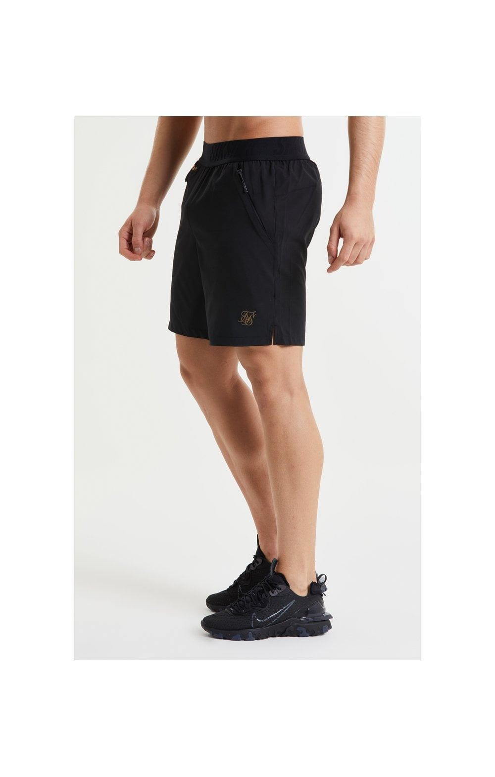 SikSilk Pressure Woven Long Shorts - Black (1)