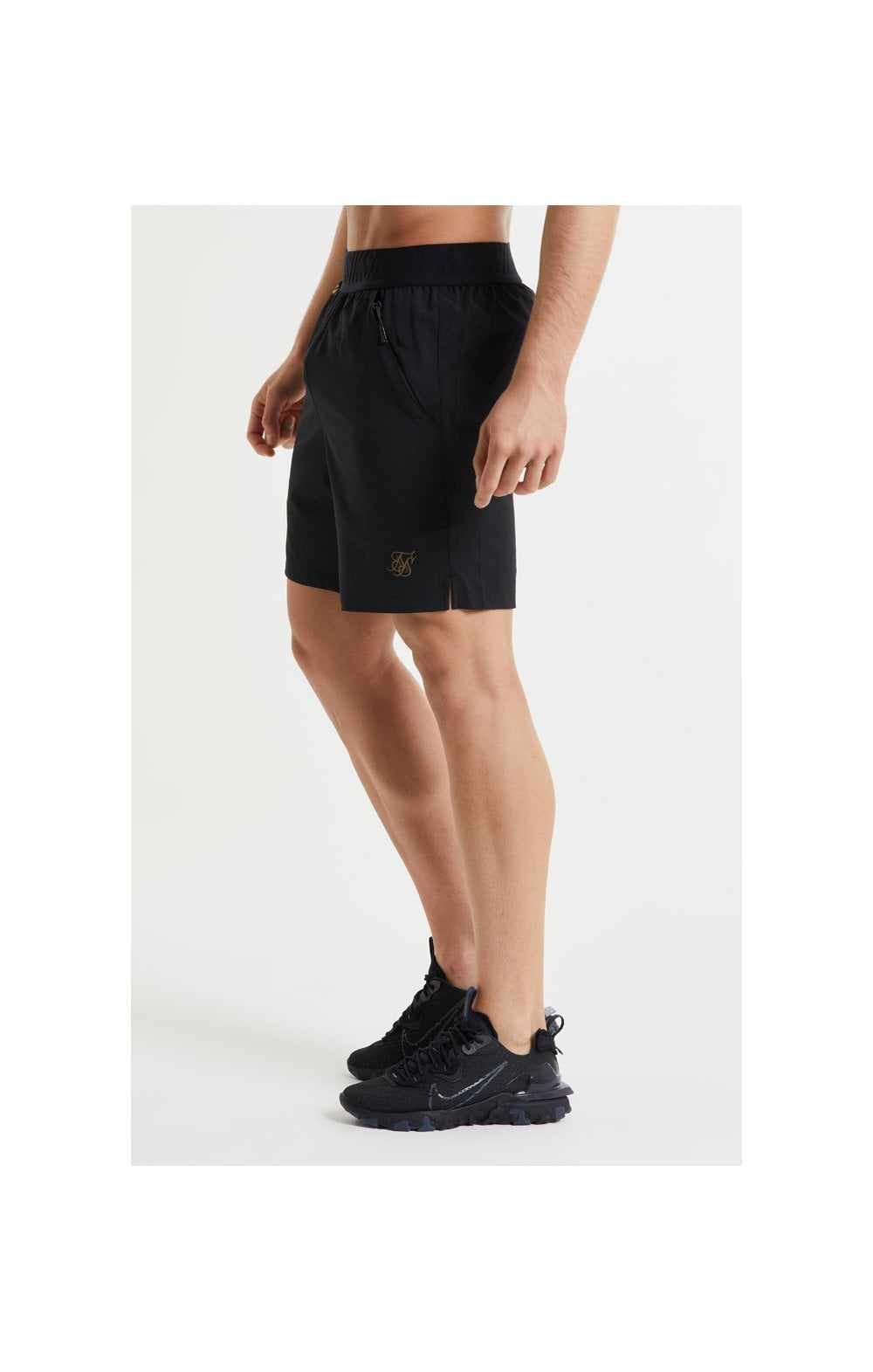 SikSilk Pressure Woven Long Shorts - Black (2)