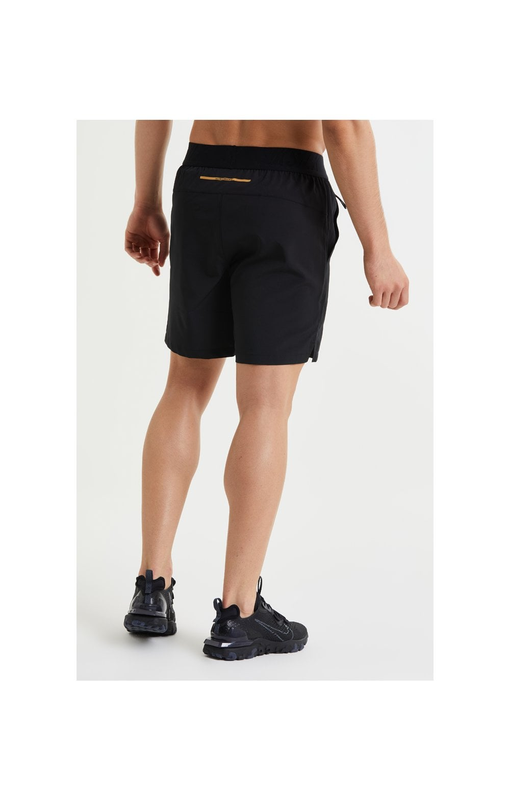 SikSilk Pressure Woven Long Shorts - Black (3)
