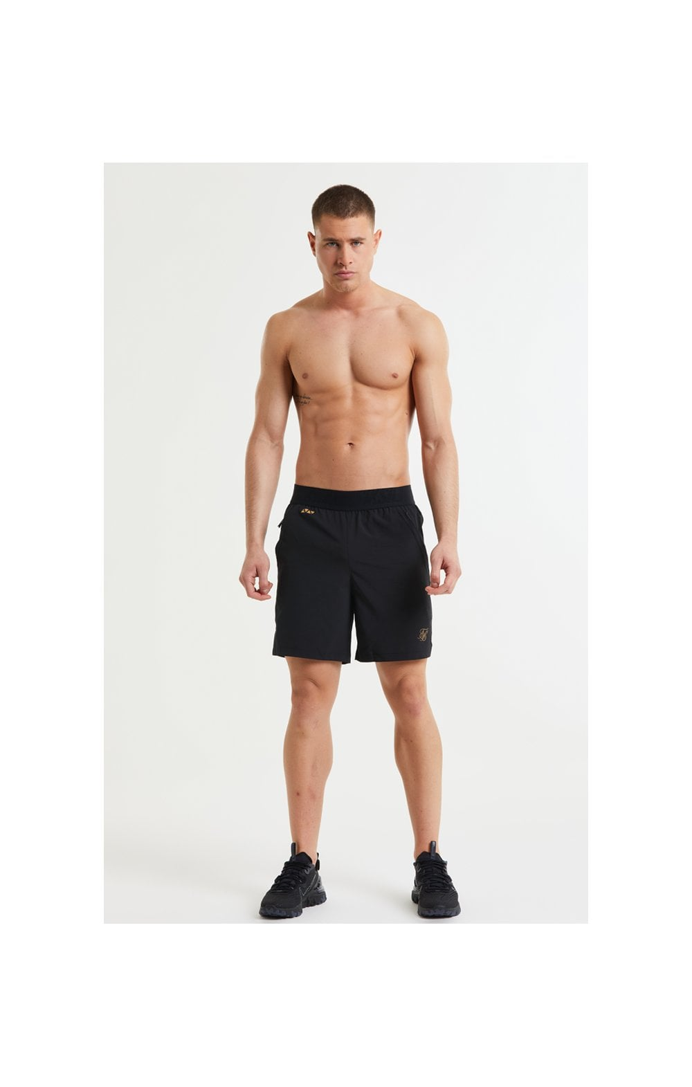 SikSilk Pressure Woven Long Shorts - Black (4)