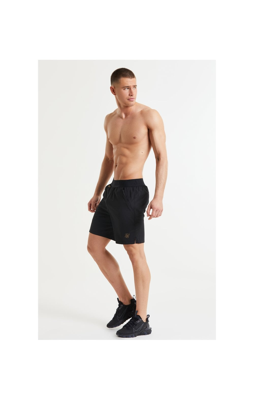 SikSilk Pressure Woven Long Shorts - Black (5)