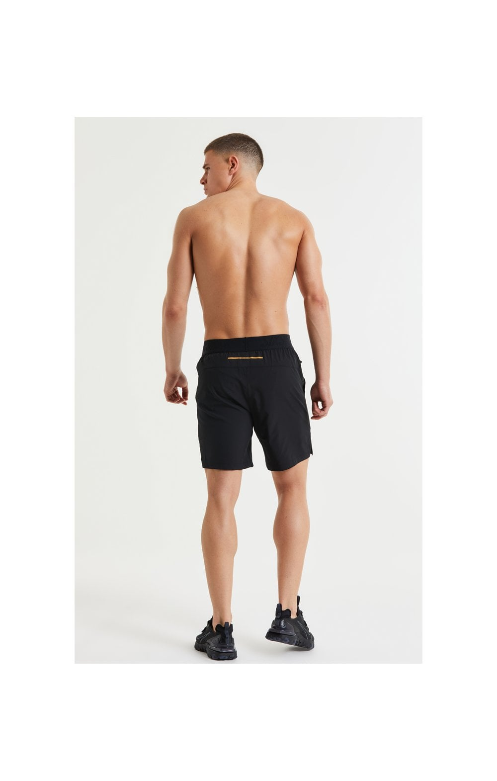 SikSilk Pressure Woven Long Shorts - Black (6)