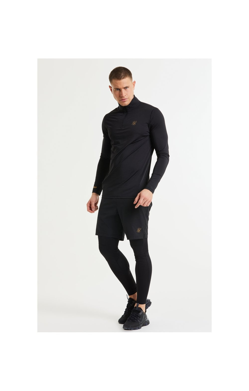 Load image into Gallery viewer, SikSilk Pressure Zip Funnel Neck - Black (4)