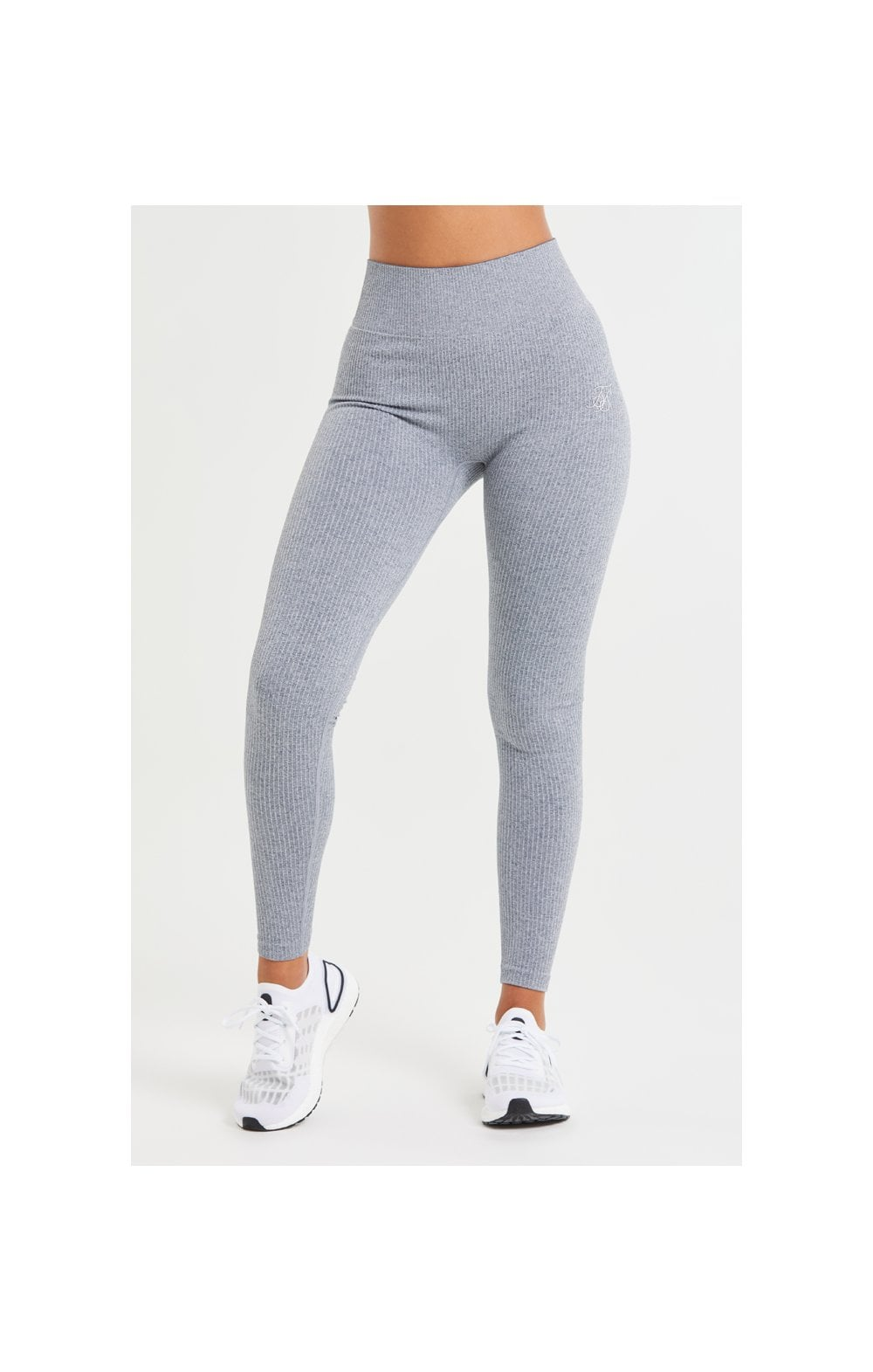 SikSilk Ribbed Gym Leggings – Grey
