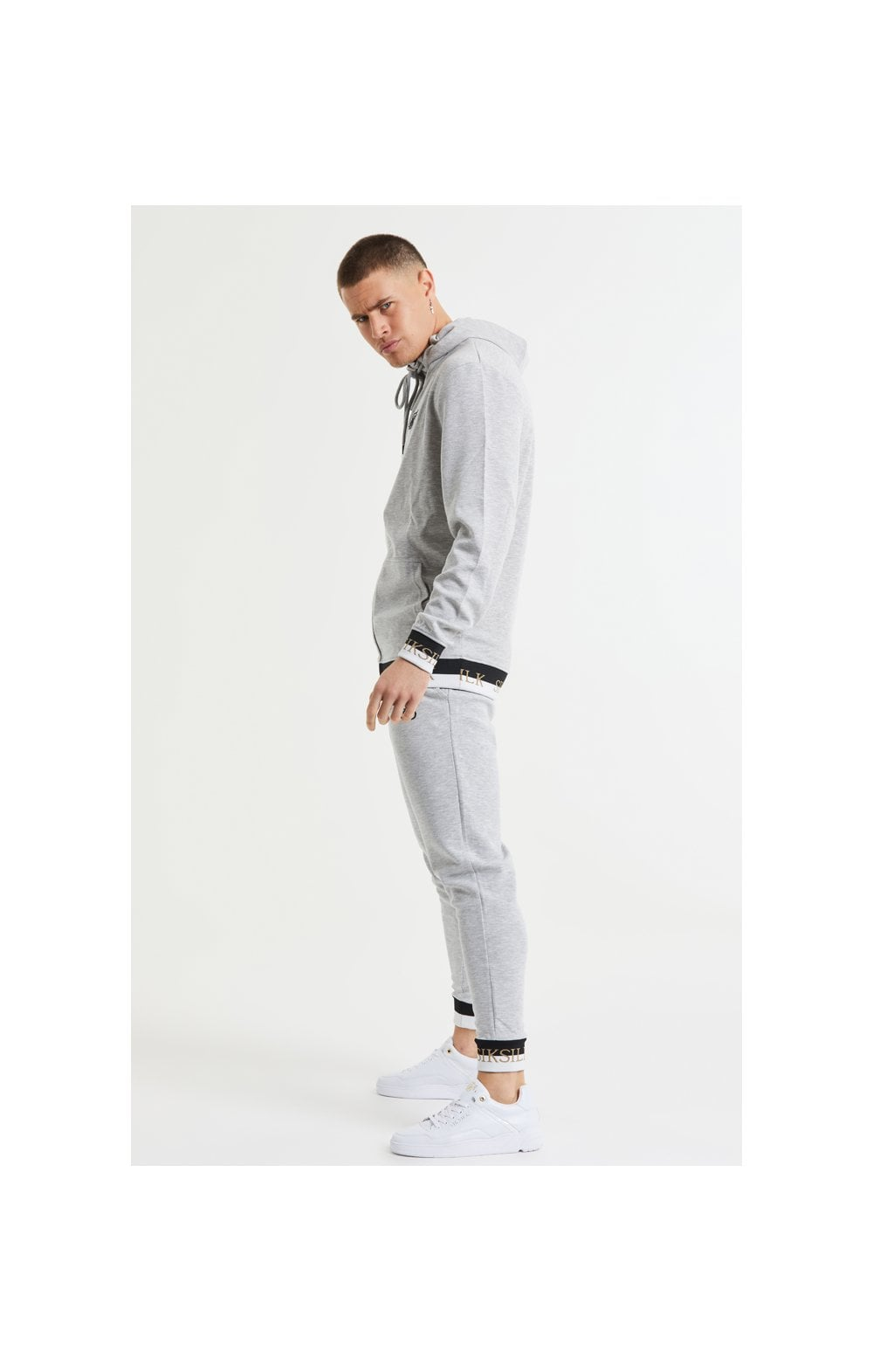 SikSilk Deluxe Fitted Jogger - Grey Marl (4)