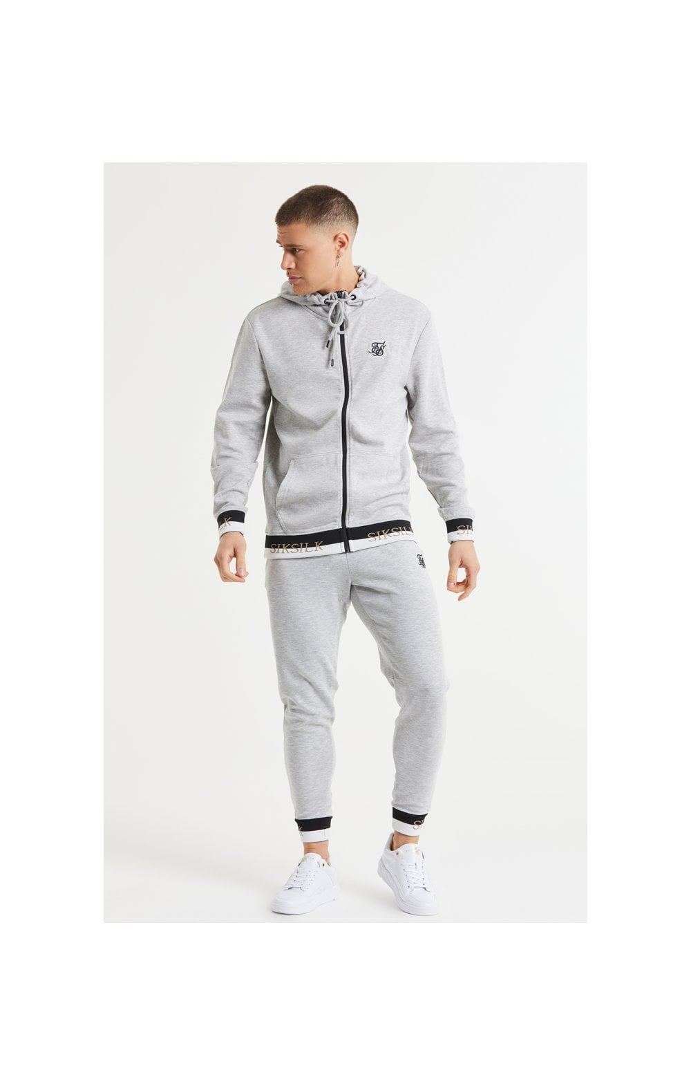 SikSilk Deluxe Fitted Jogger - Grey Marl (5)