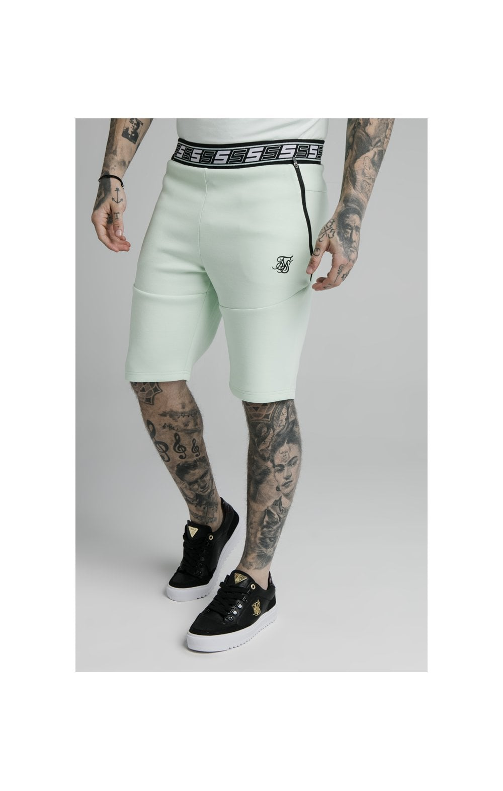 SikSilk Exhibit Function Shorts - Aqua Teal