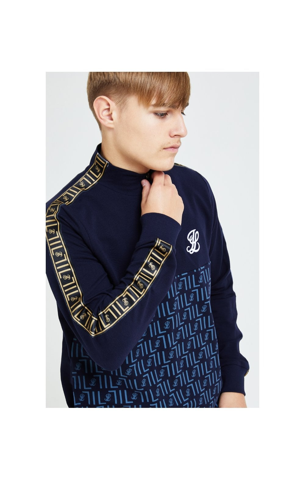 Illusive London Elite Quarter Zip Hoodie - Navy