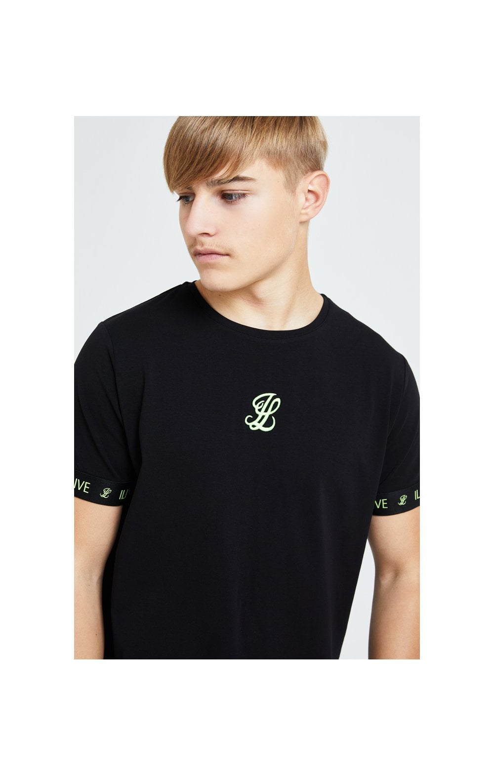 Illusive London Element Tech Tee - Black & Green (1)