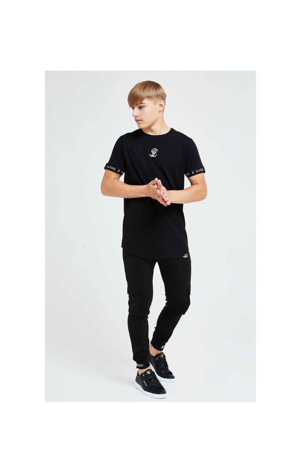 Illusive London Element Tech Tee - Black & Green (2)