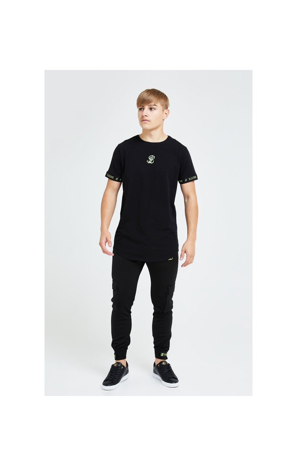 Illusive London Element Tech Tee - Black & Green (4)