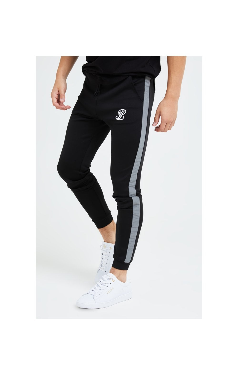Illusive London Hybrid Joggers - Black & Grey