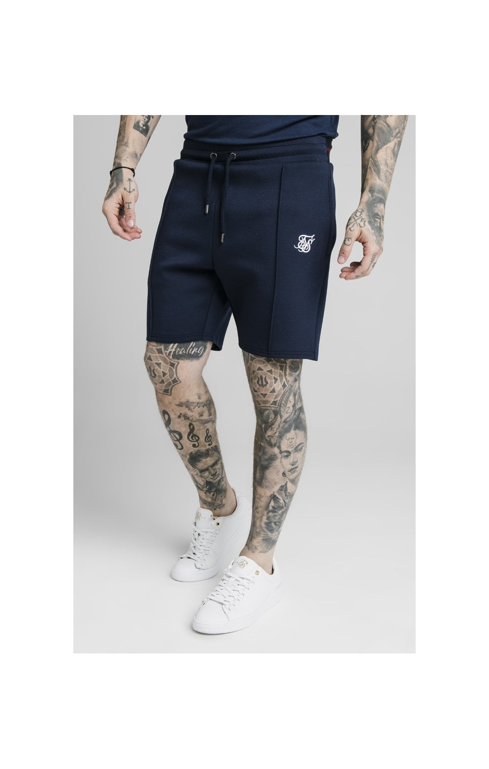 SikSilk Exposed Tape Shorts - Navy