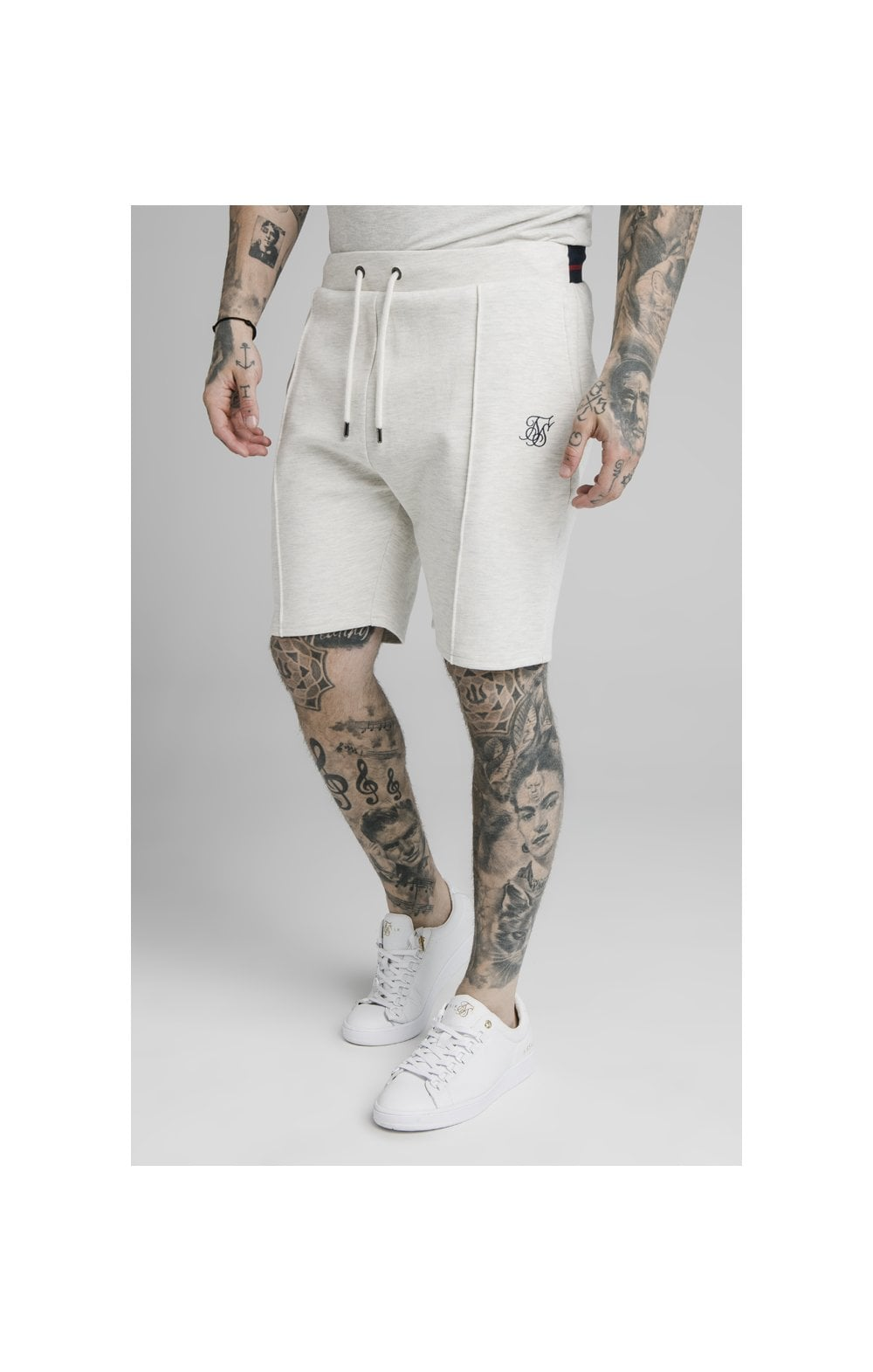 SikSilk Exposed Tape Shorts - Stone
