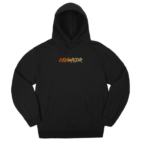 LOGO FADE HOODIE BLACK / ORANGE