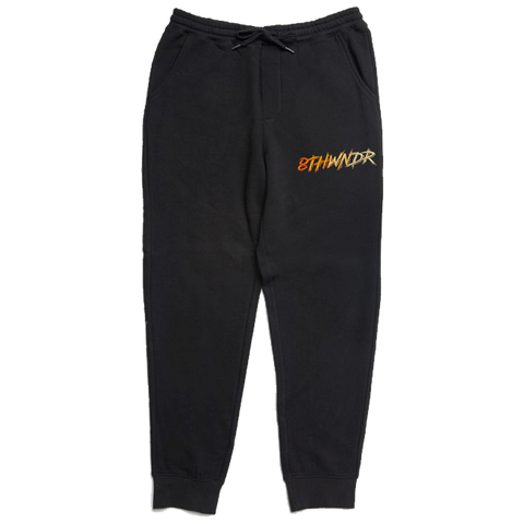 LOGO FADE SWEATPANT BLACK / ORANGE